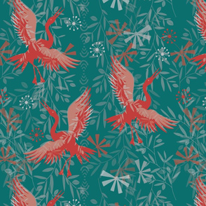 Dancing Crane Red