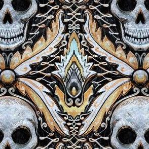 Elegant skull damask