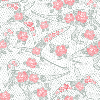 dinos lace - salmon color