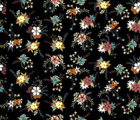 victorian moderne floral - zing fabric by booboo_collective on Spoonflower - custom fabric