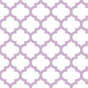 Kinsale Quatrefoil Lavender