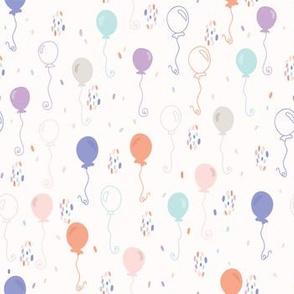 Pastel Party Balloon Vector Pattern