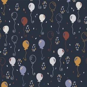 Elegant Party Balloons Vector Pattern