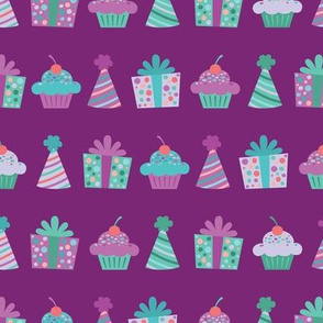 Purple and Teal Birthday Items