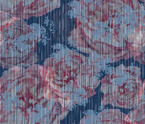 Vintage Floral - Dusty Blue fabric by sarah_treu on Spoonflower - custom fabric
