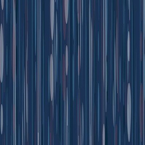 Vintage Stripe - Deep Blue