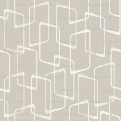 Retro Rounded Rectangles in Beige/Light Warm Gray