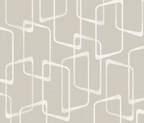 Retro Rounded Rectangles in Beige/Light Warm Gray fabric by itsjensworld on Spoonflower - custom fabric