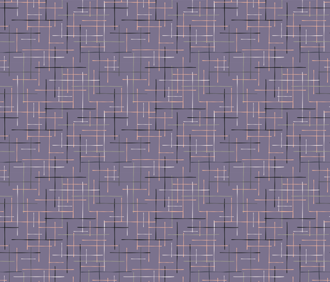 Criss Cross Lavender Maze Vector Pattern Hand  fabric by limolida on Spoonflower - custom fabric
