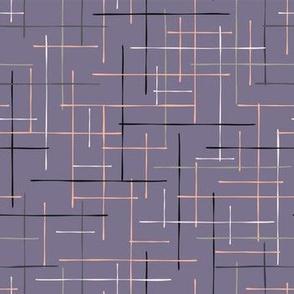 Criss Cross Lavender Maze Vector Pattern Hand