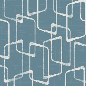 Retro Rounded Rectangles in Blue Gray
