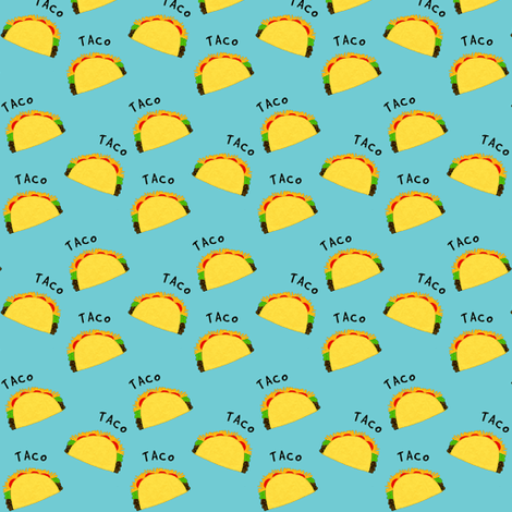 Tiny Taco / blue  fabric by franbail on Spoonflower - custom fabric