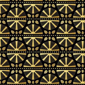 Art Deco Fans in Gold