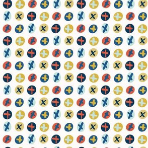Crossed Out Circles Vector Pattern