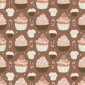 Elegant Cupcakes Food Vector Pattern Seamless