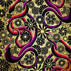 lacquered snakes