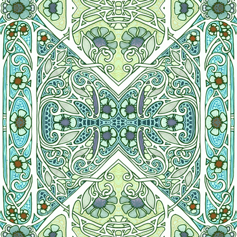 Of Branches and Lace fabric by edsel2084 on Spoonflower - custom fabric