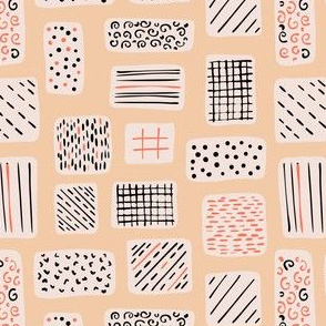 Abstract Geometric Doodle Shapes