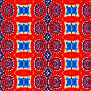 Blue Blocks, Red Bubble Stripes