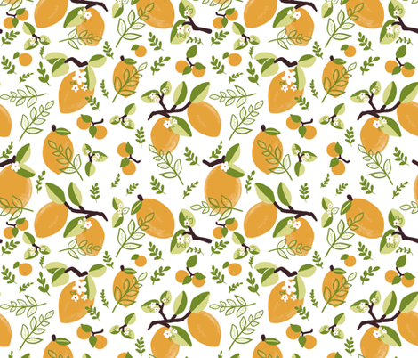 Lemons fabric by jillpauli on Spoonflower - custom fabric