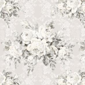 Woodland Rose Belgian Linen damask