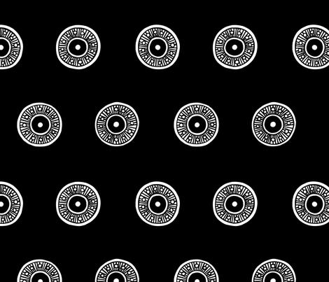 Sassa Black fabric by brynfreeman on Spoonflower - custom fabric
