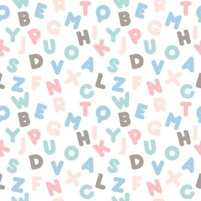 Funny letters seamless pattern colorful alphabet kids design