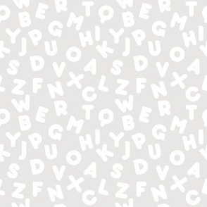 Funny letters seamless pattern grey alphabet kids design