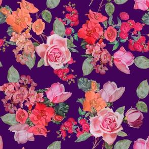 Vintage Roses // Eggplant