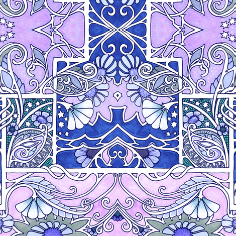 Midnight and Magic fabric by edsel2084 on Spoonflower - custom fabric