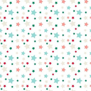 little colorful stars seamless pattern