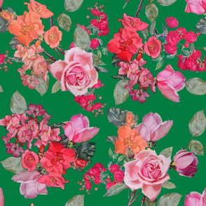 Vintage Roses // Kelly Green