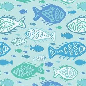 Detailed Fish Doodles