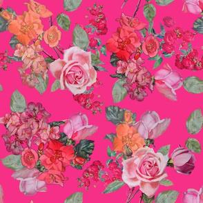 Vintage Roses // Hot Pink