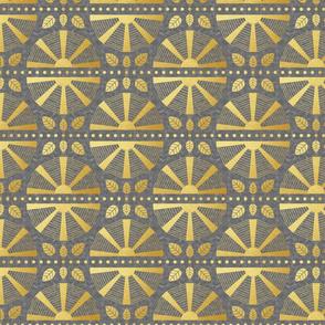 Gold & Grey Art Deco Fan