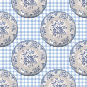 Let's Lunch in the Meadow blueberry gingham