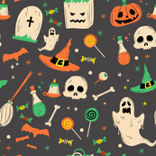 Vintage Haunted Halloween  Icons