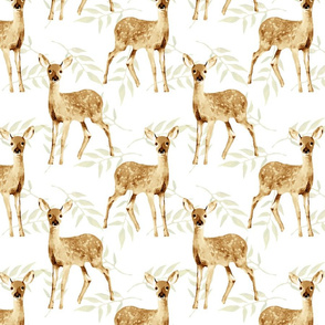 Baby Deer Pattern with leaves