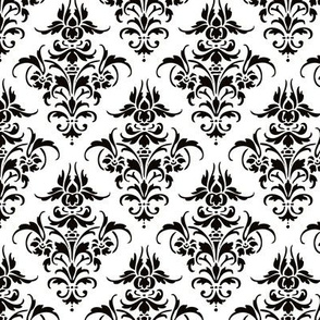 Damask Pattern | Black and White