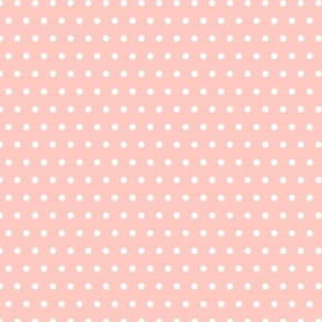 Peachy Pink Polka Dots - Coordinates with Josie Meadow Floral