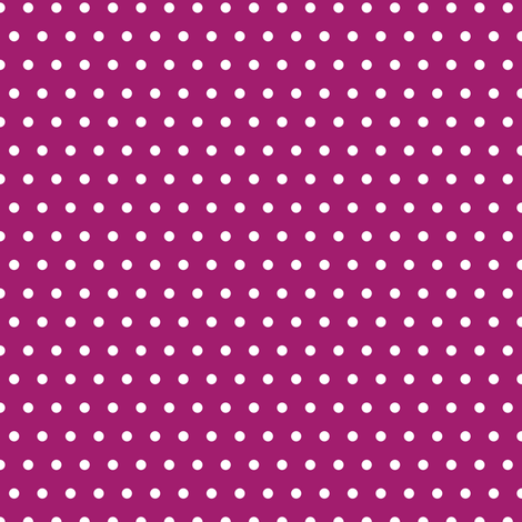 White Polka Dots on Raspberry Purple - Coordinates with Josie Meadow Floral fabric by sweeterthanhoney on Spoonflower - custom fabric