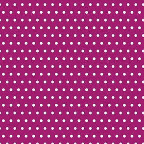 White Polka Dots on Raspberry Purple - Coordinates with Josie Meadow Floral