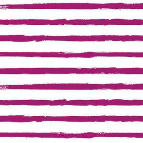 Raspberry Purple Painted Stripe
