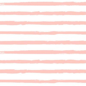 Peachy Pink Painted Stripes - Coordinates with Josie Meadow Floral