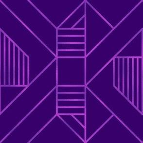 Metallic Foil  in Purple Geometric