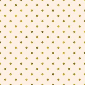 Peach and Gold Polka Dot | K020
