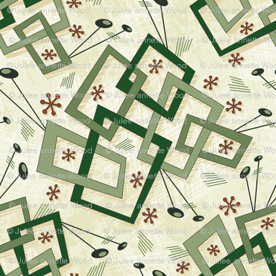 A Box of Jacks - Mid Century Geometric