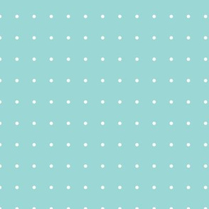Light Teal Small Polka Dots