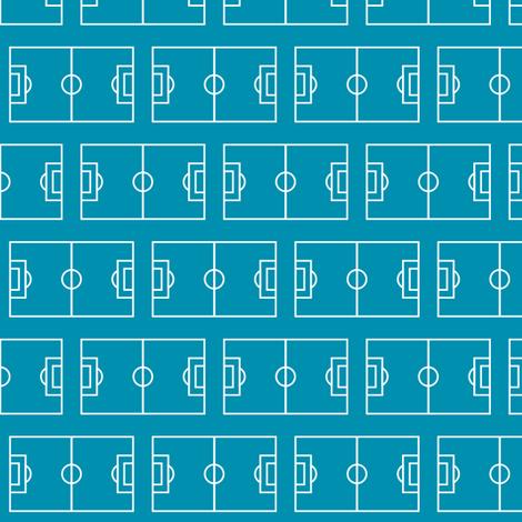 Soccer Field, Deep Teal fabric by palifino on Spoonflower - custom fabric