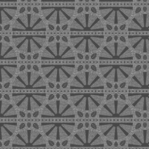 Dark Grey Art Deco Fan